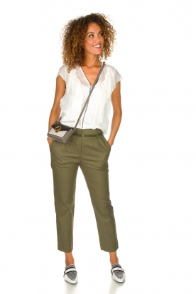 Atos Lombardini |  Classic trousers Belle | green