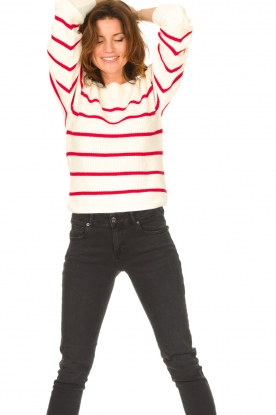 Set |  Cotton sweater Away | white/red