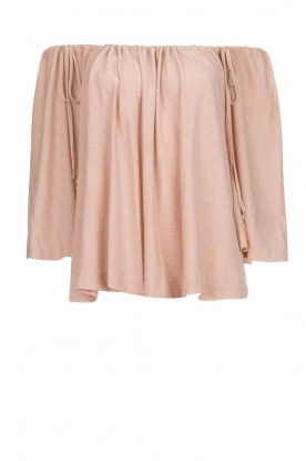 Atos Lombardini |  Off-shoulder top with lurex Lauretta | nude