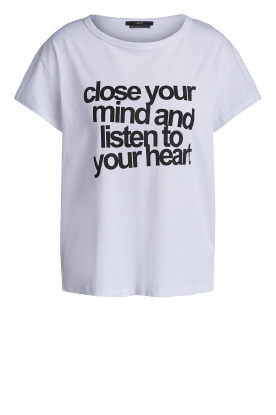 Set | T-shirt with text print Mind | white