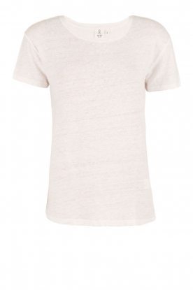 Knit-ted | Linnen T-shirt Brechtje | wit