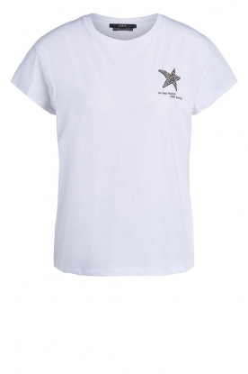 Set | T-shirt with print Star | white