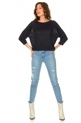 Look Linen sweater with boatneck Inge