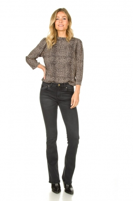 Look Leopard print top Meike