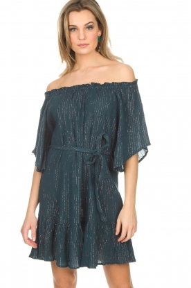 Hipanema | Off-shoulder jurk Rayane | blauw