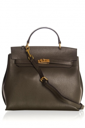 Smaak Amsterdam |  Leather handbag Jenna big | green
