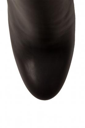 Morobé | Leren enkellaars Prato | zwart