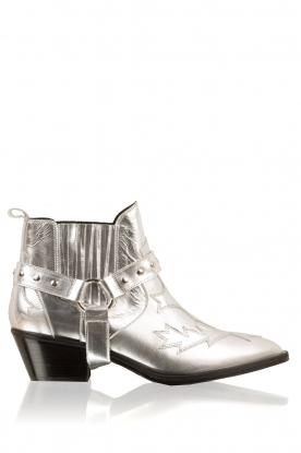Morobé |  Leather ankle boots Venice | silver