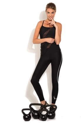 Racerback sports top Ziggy | black