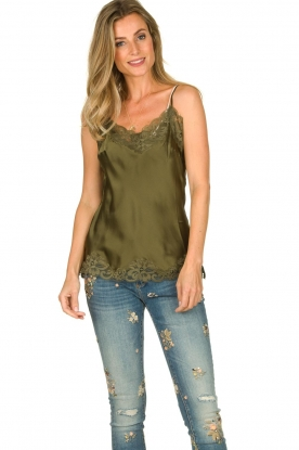 Gold Hawk |  Silk top Elin | green