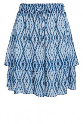 Set | Rok met tie dye print Ysa | blauw