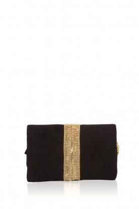 Hipanema |  Suede shoulder bag Starlet | black