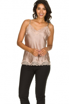 Gold Hawk | Silk top Elin | nude
