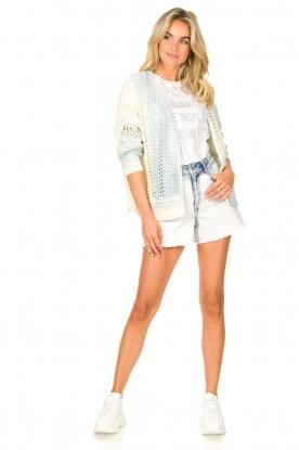 Look Denim short with washed print Bente