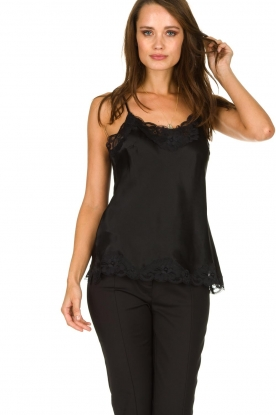 Gold Hawk | Silk top Elin | black