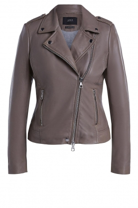 Set | Leather biker jacket Tyler | grey