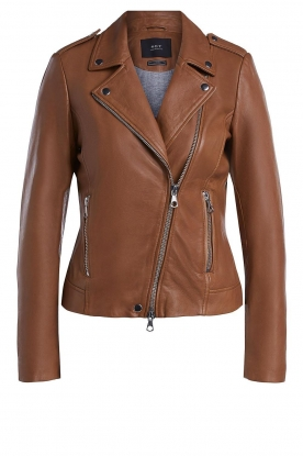Set | Leather biker jacket Tyler | brown