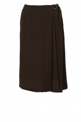 Munthe |  Midi skirt East | black