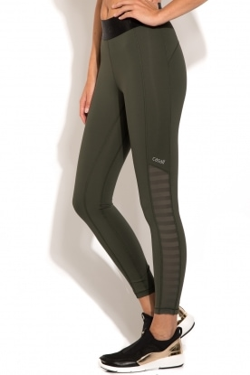 Sportlegging Shiny Waist 7/8 | khaki