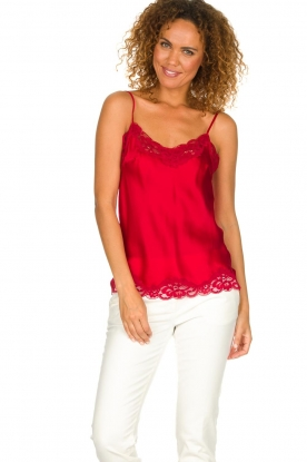 Gold Hawk |  Silk top Elin | red