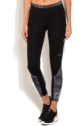 Sports leggings Pxl Block 7/8   black/grey