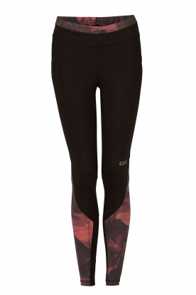 Casall | Sportlegging Pxl Block 7/8 | zwart/peach