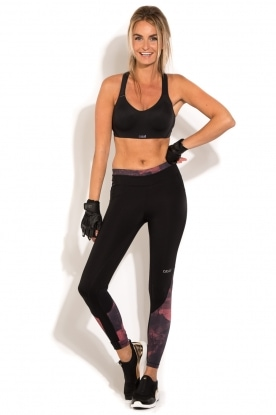 Sportlegging Pxl Block 7/8 | zwart/peach