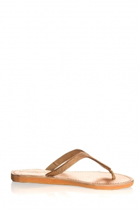 Laidback London | Leather flip-flops Ivy | gold