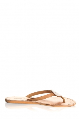 Laidback London | Leather flip-flops Sophie | white