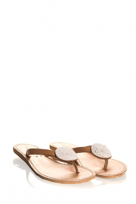 Laidback London | Leren slippers Sophie | wit