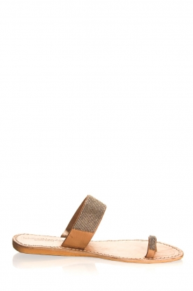 Laidback London | Leather flip-flops Kate | silver