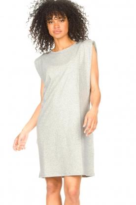 Set |  Sleeveless cotton dress Gia | grey