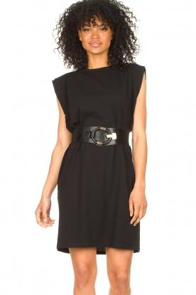 Set |  Sleeveless cotton dress Gia | black