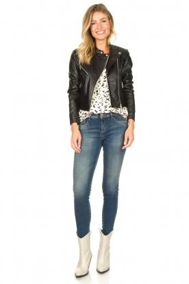 Look Short leather biker jacket Gaga