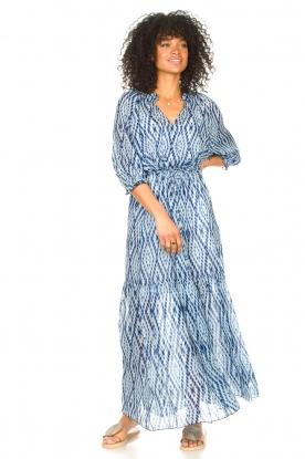 Set |  Maxi dress with tie dye print Lee | blue