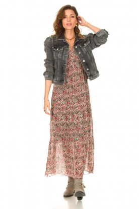 Look Maxi dress with floral print Erica