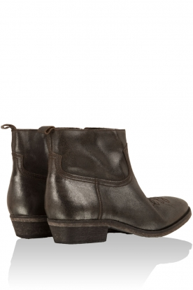 Leather ankle boots Olsen Jamaica | silver