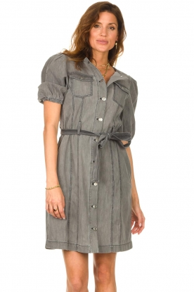 Set |  Denim dress Zola | grey
