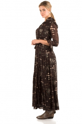Maxi dress Chain | brown