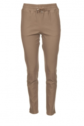 STUDIO AR BY ARMA | Leather pants Naomi | taupe
