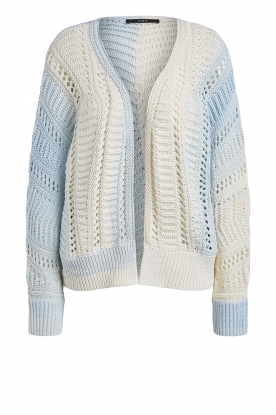 Set | Knitted cardigan with ombre print Day | blue