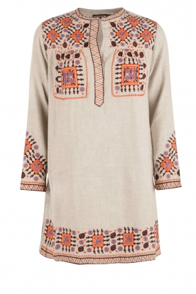 Antik Batik |  Tunic dress Mike | grey