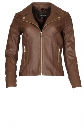 STUDIO AR BY ARMA |Leather biker jacket Kendall | brown