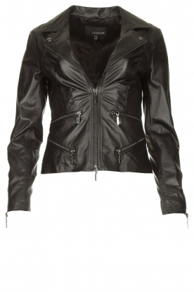 STUDIO AR BY ARMA | Leather biker jacket Bebe | black