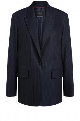 Set | Gestreepte blazer Iris | blauw