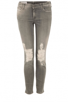 7 For All Mankind |  Cropped skinny jeans The Skinny | grey