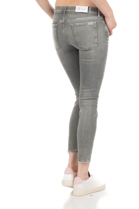 7 For All Mankind | Cropped skinny jeans The Skinny | grijs