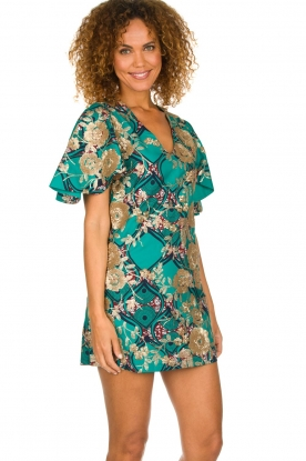 Hipanema |  Printed dress with glitter sequins Bangui | green