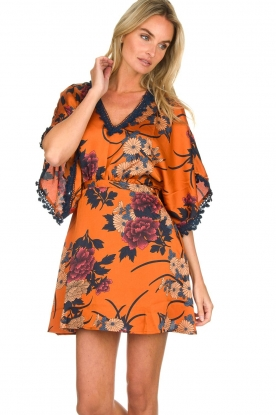 Hipanema |  Floral dress Tinos | orange