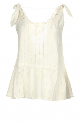 Hipanema |  Lurex striped top Erin | white